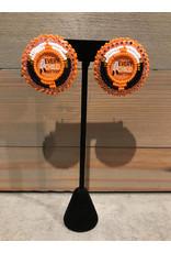 Amber Evans Beaded Orange ECM Earrings