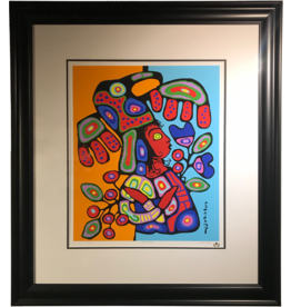 Norval Morrisseau Child With Headdress - Framed Print
