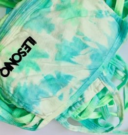 Masque tie-dye bleu et vert