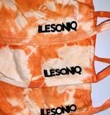 Orange Tie-Dye Face Cover