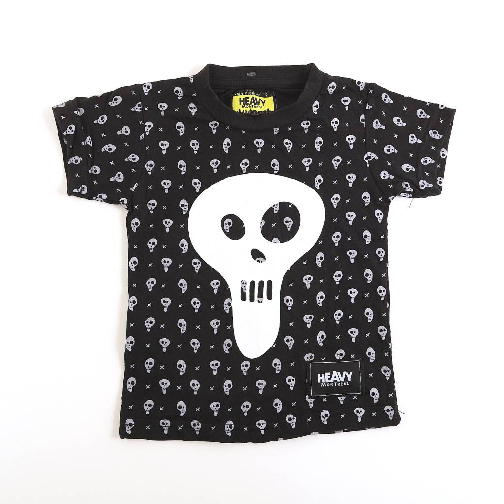HEAVY MONTREAL SKULL ALL-OVER PRINT KIDS T-SHIRT