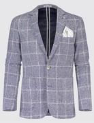 Blue Industry Textured Check Blazer