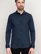 Desoto Long Sleeve Navy Blue Shirt