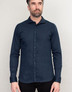 Desoto Desoto Long Sleeve Navy Blue Shirt