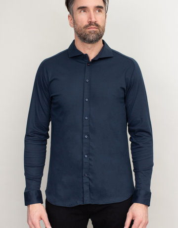 Desoto Desoto Long Sleeve Navy Blue Shirt