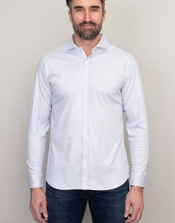 Desoto Desoto Long Sleeve Grey Pinstripe Shirt