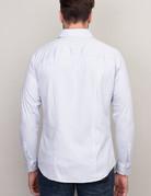 Desoto Long Sleeve Grey Pinstripe Shirt