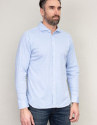 Desoto Desoto Long Sleeve Blue Pinstripe Shirt