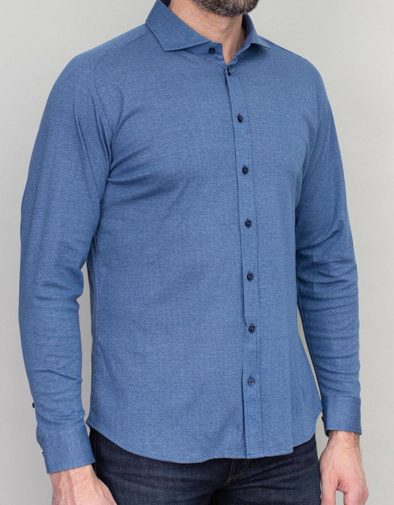 Desoto Desoto Long Sleeve Blue Bird's Eye Shirt