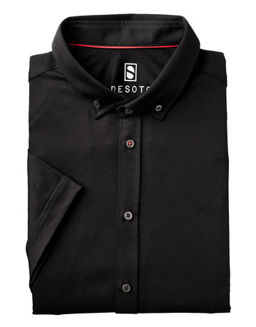 Desoto Desoto Short Sleeve Button Up Black