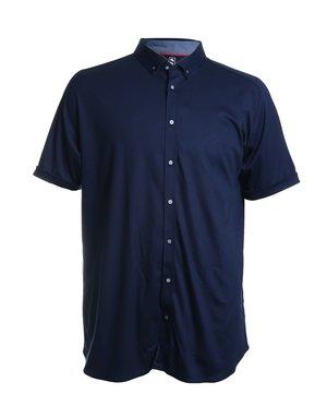 Desoto Desoto Short Sleeve Button Up Navy Blue