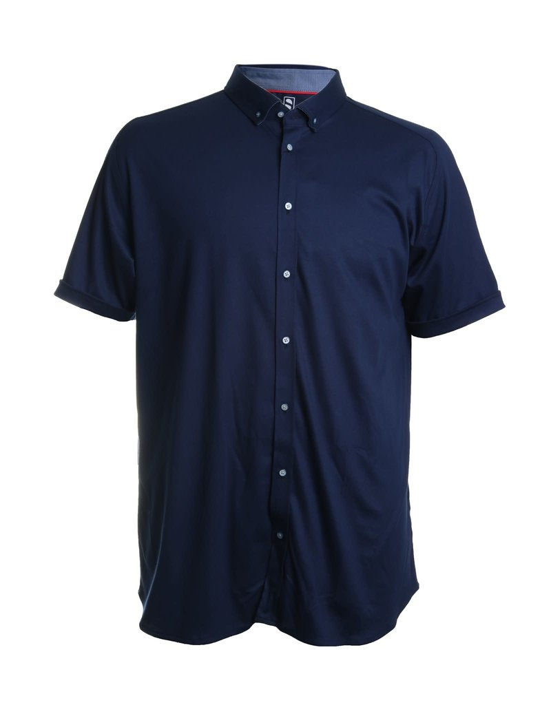 Desoto Desoto Short Sleeve Button Up Navy Blue