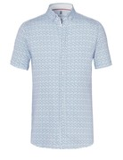 Desoto Desoto Short Sleeve Button Up Ink Blue Tile