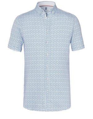 Desoto Desoto Short Sleeve Button Up Ink Blue Tile