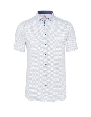 Desoto Desoto Short Sleeve Button Up Scattered Dots