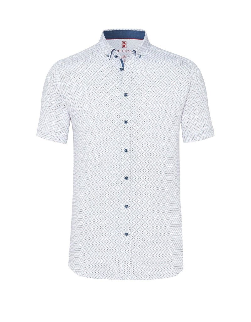 Desoto Desoto Short Sleeve Button Up Scattered Dots