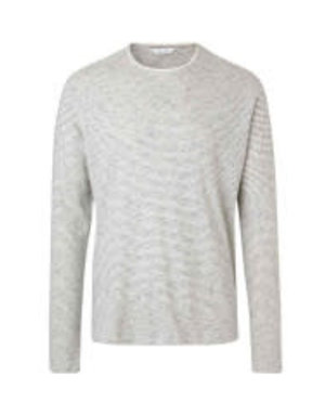 Samsoe & Samsoe Samsoe Long Sleeve Crew Neck Cream Sweater