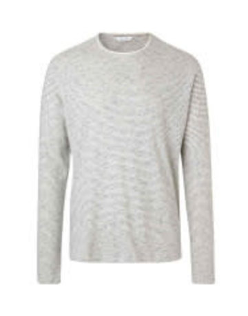 Samsoe Samsoe Long Sleeve Crew Neck Cream Sweater