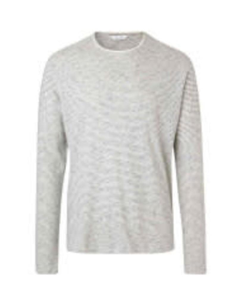 Samsoe Samsoe Long Sleeve Crew Neck Cream Sweater