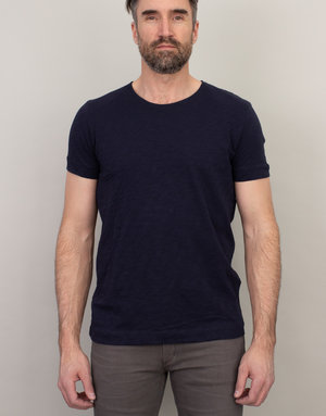 Samsoe Samsoe Scoop Neck T-Shirt Navy
