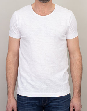 Samsoe & Samsoe Samsoe Scoop Neck T-Shirt White