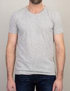 Samsoe Samsoe Scoop Neck T-Shirt Light Grey