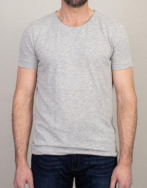 Samsoe & Samsoe Samsoe Scoop Neck T-Shirt Light Grey