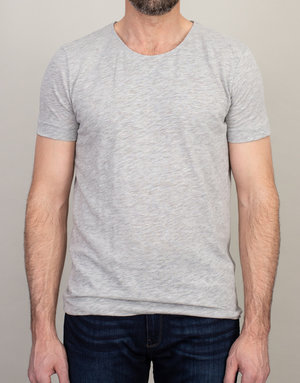 Samsoe Samsoe Scoop Neck T-Shirt Light Grey