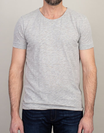 Samsoe & Samsoe Samsoe Scoop Neck T-Shirt Light Grey