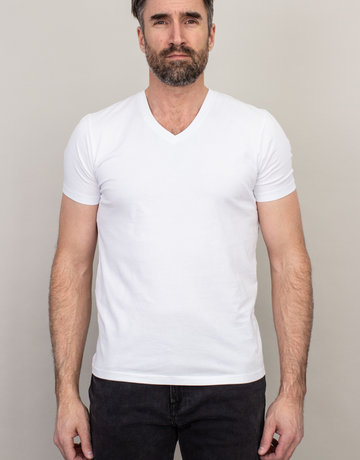 Samsoe & Samsoe Samsoe V-Neck Basic T-Shirt White