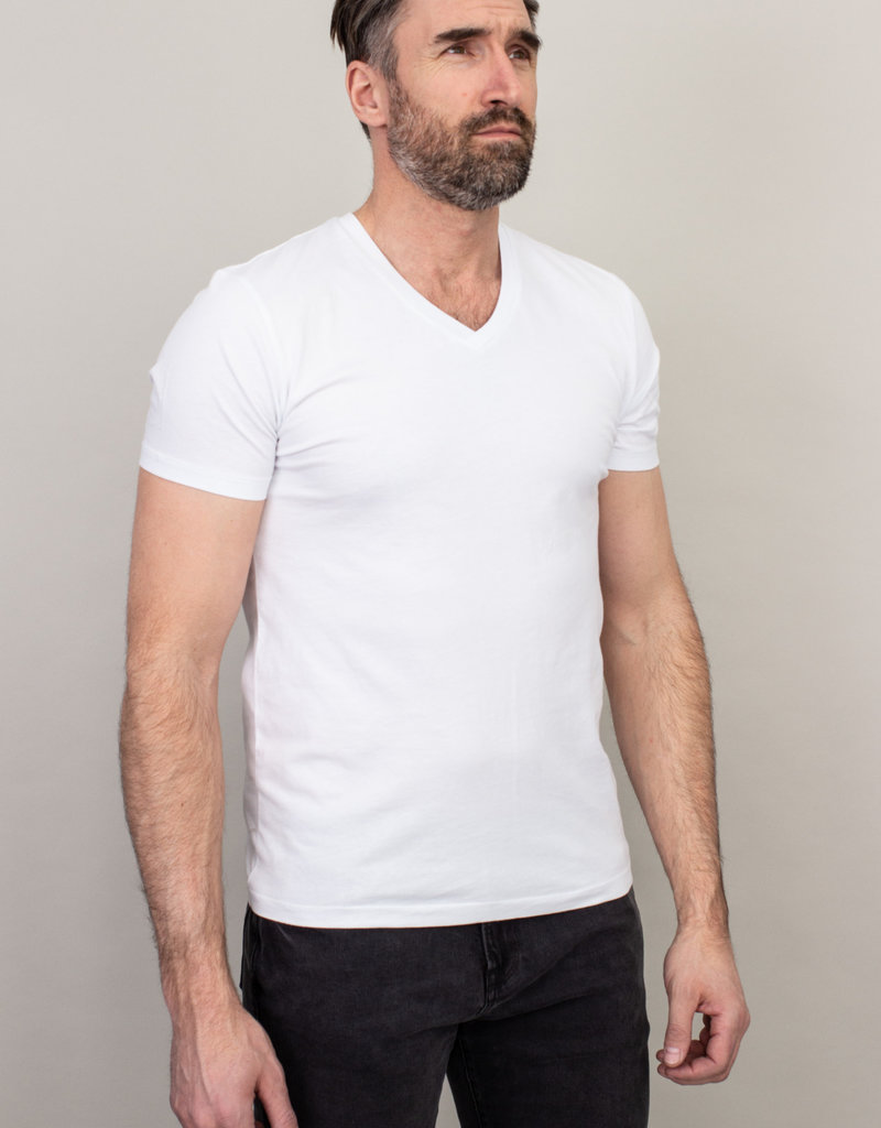 Samsoe Samsoe V-Neck Basic T-Shirt White