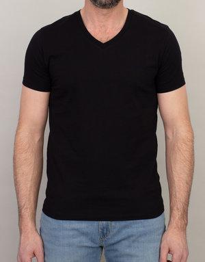 Samsoe & Samsoe Samsoe V-Neck Basic T-Shirt Black