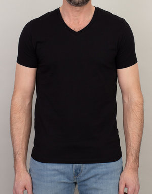 Samsoe Samsoe V-Neck Basic T-Shirt Black