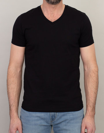 Samsoe & Samsoe Samsoe V-Neck Basic T-Shirt Black