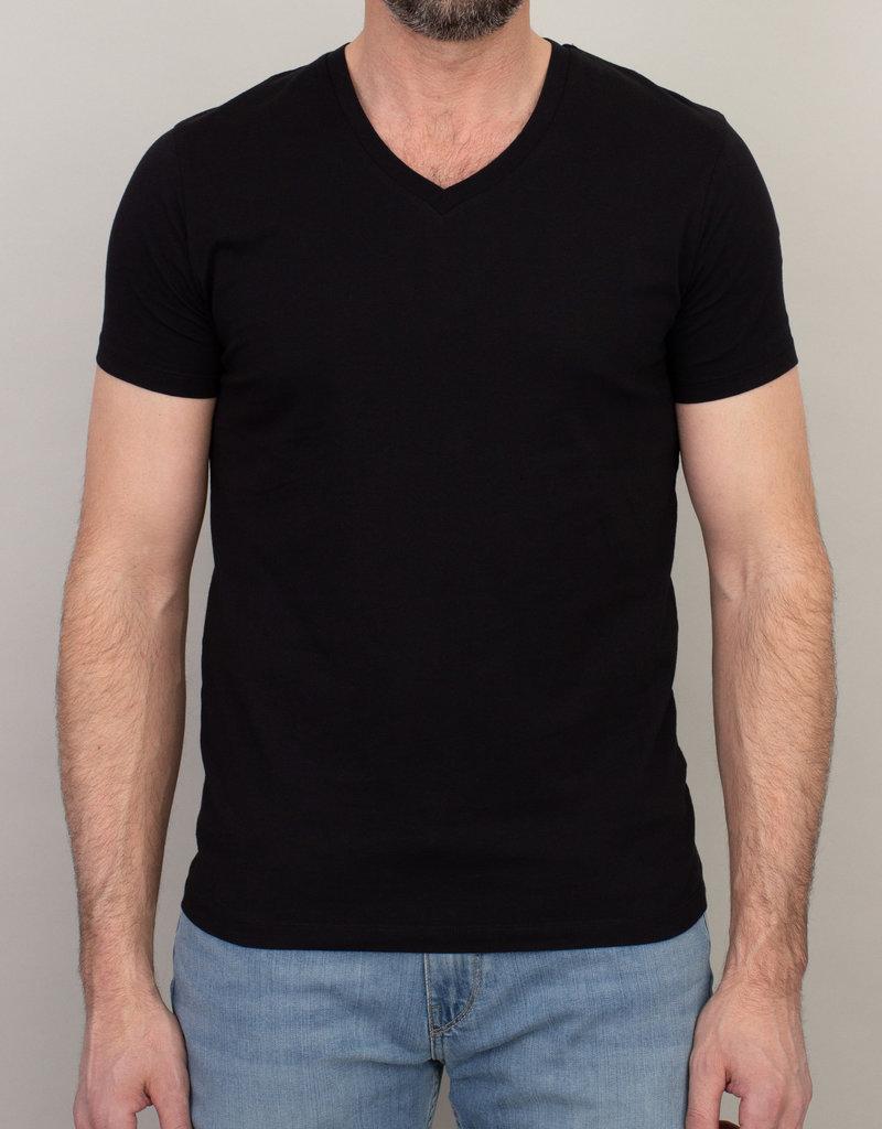 Samsoe Samsoe V-Neck Basic T-Shirt Black