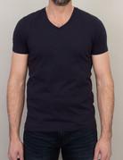 Samsoe Samsoe V-Neck Basic T-Shirt Dark Blue
