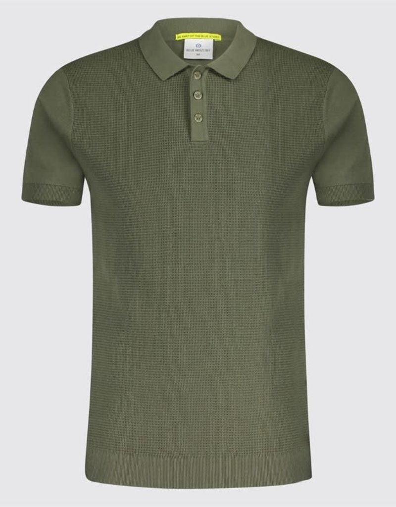Blue Industry Blue Industry Textured Polo Army Green