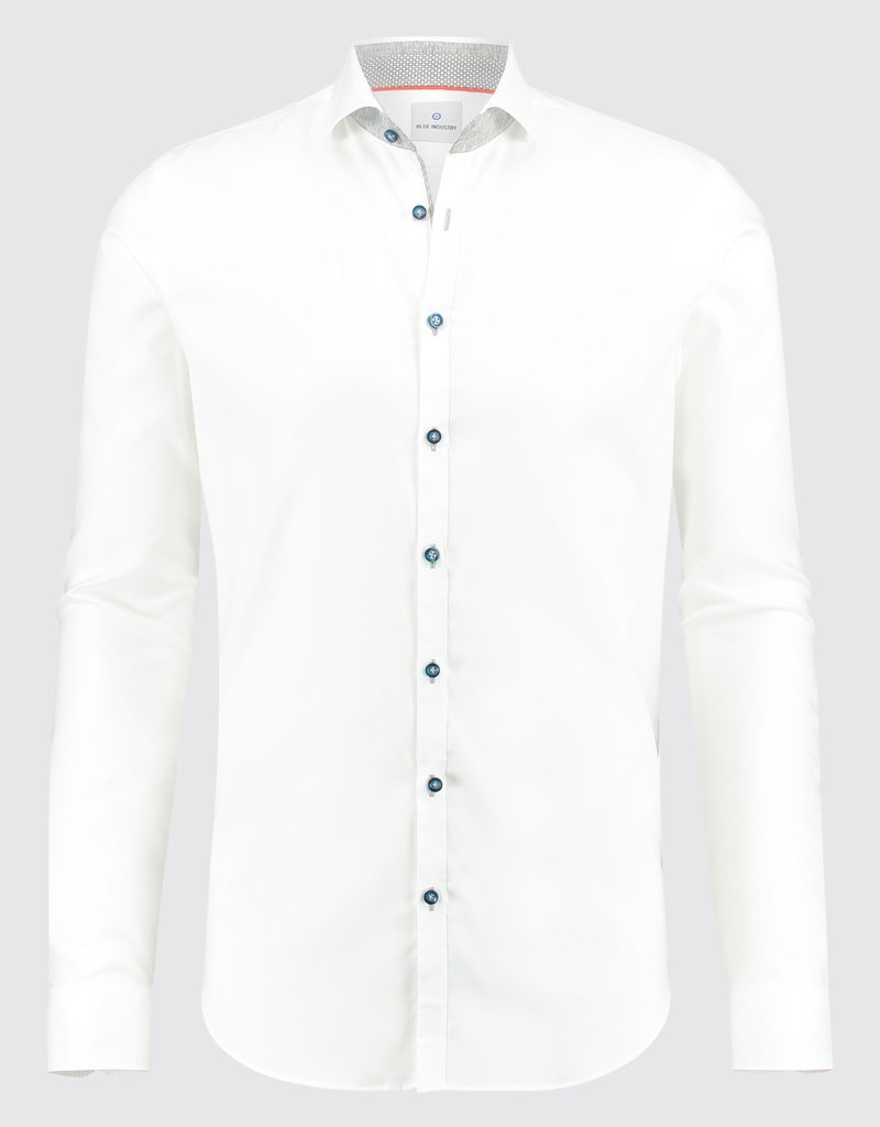 Blue Industry Blue Industry Collar Trim Shirt White