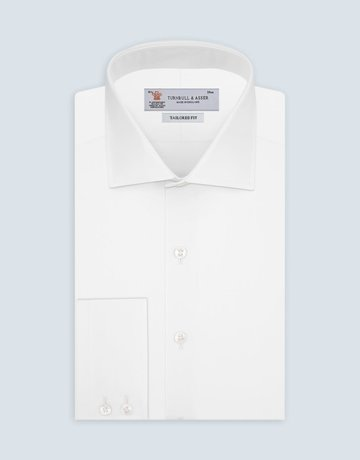 Turnbull & Asser Turnbull & Asser Tailored Fit Button Up Shirt White