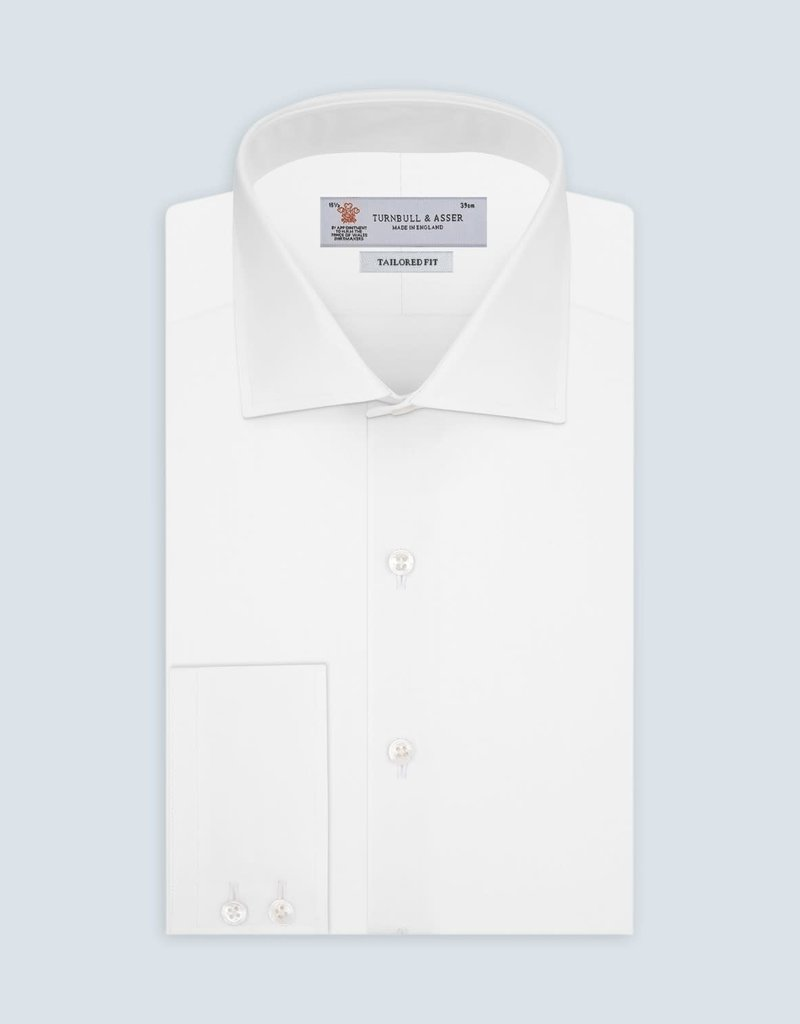 Turnbull & Asser Turnbull & Asser Tailored Fit Button Up Shirt White
