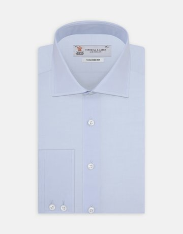 Turnbull & Asser Turnbull & Asser Tailored Fit Button Up Light  Blue