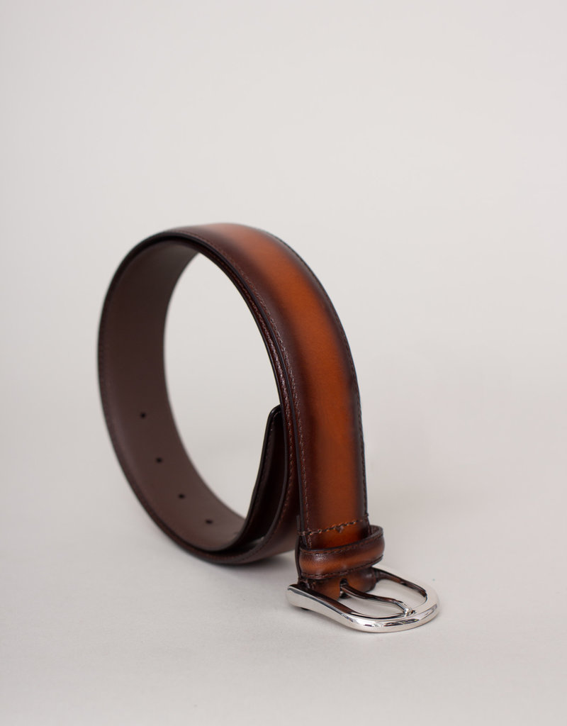 Anderson's Anderson's Leather Belt Textured Light Brown