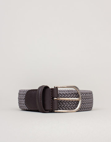 Anderson's Belts and Wallets Anderson's Woven Stretch Belt Grey