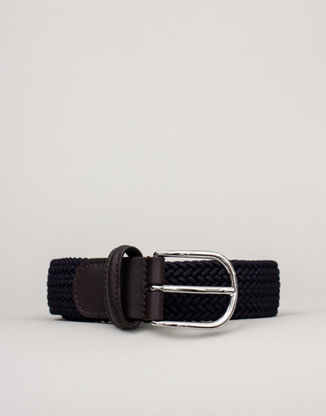 Anderson's Anderson's Woven Stretch Belt Navy