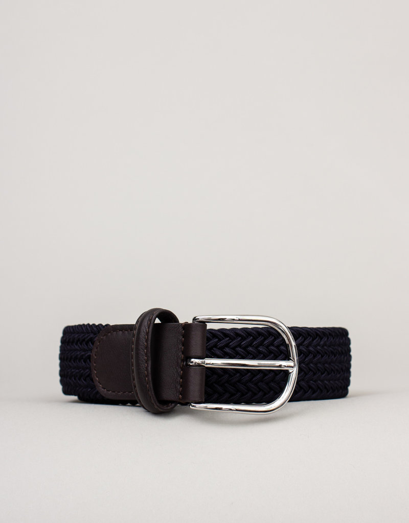 Anderson's Belts and Wallets Anderson's Woven Stretch Belt Navy