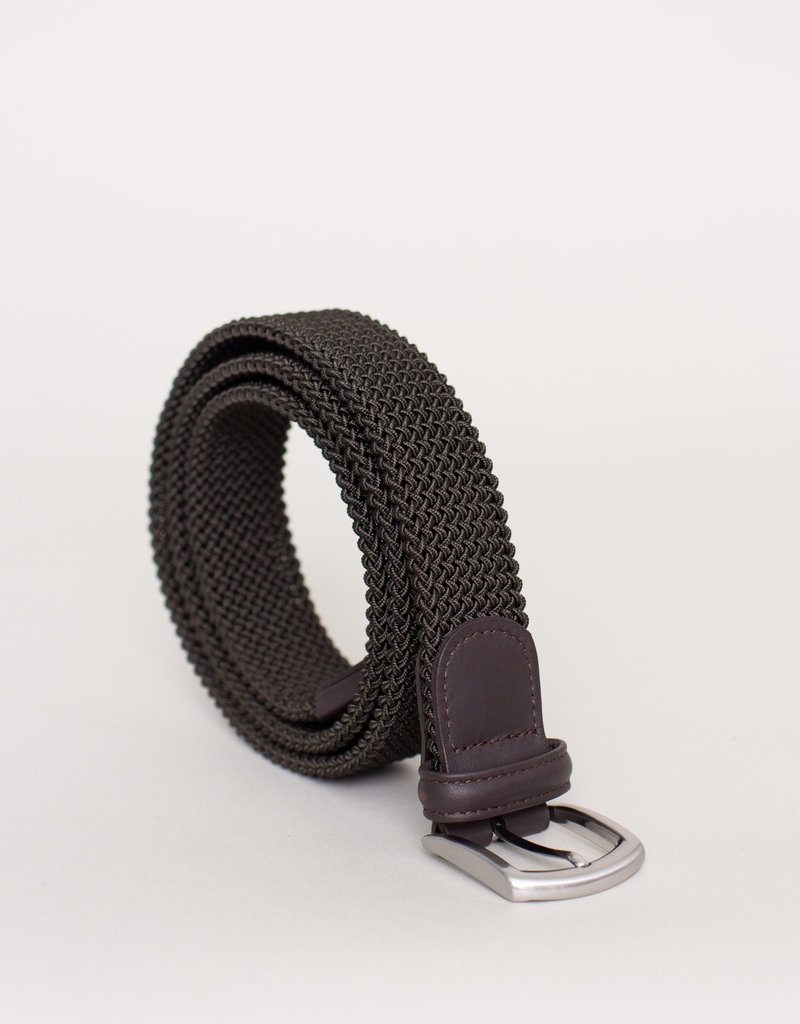 Anderson's Belts and Wallets Anderson's Woven Stretch Belt Olive