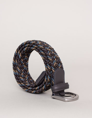 Anderson's Woven Stretch Belt Multi Grey and Blue