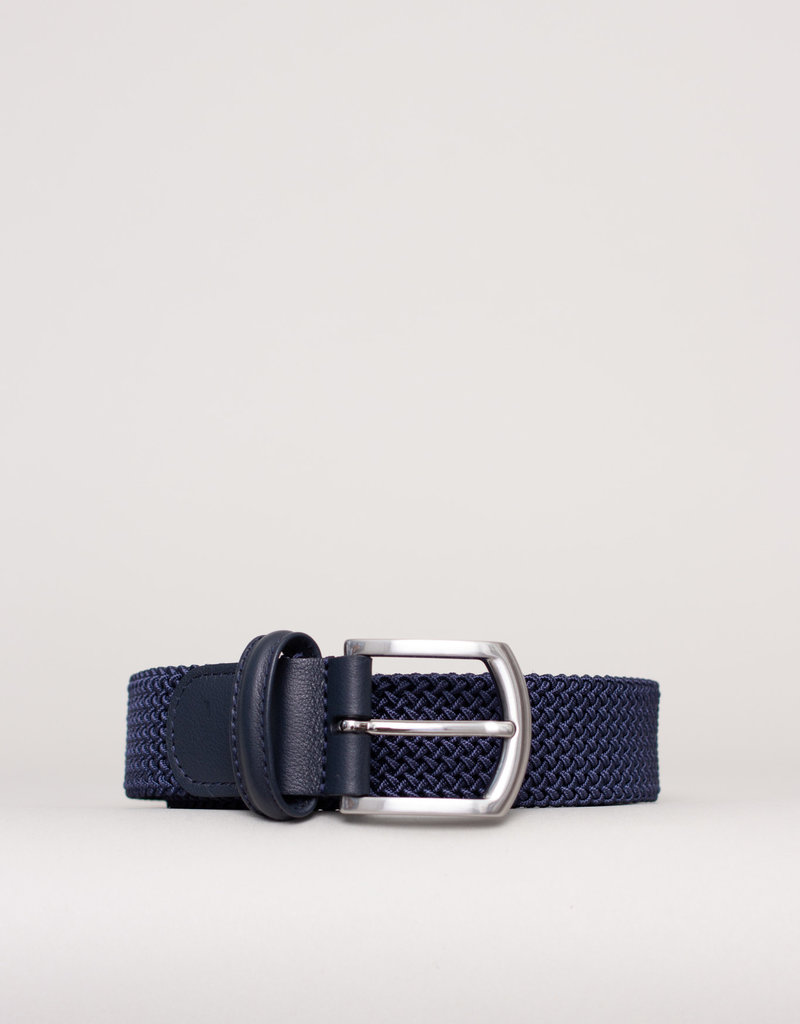 Anderson's Belts and Wallets Anderson's Woven Stretch Belt Light Navy