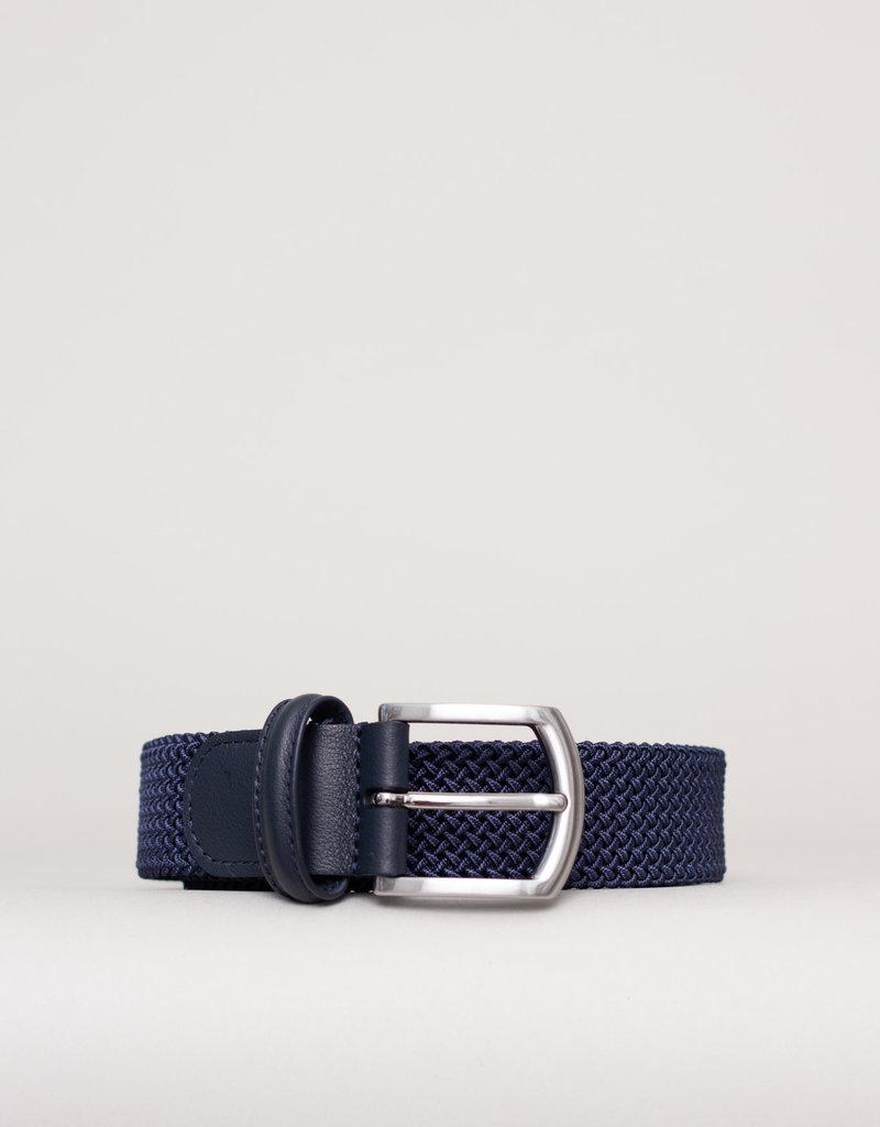 Anderson's Woven Stretch Belt Light Navy