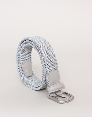 Anderson's Belts and Wallets Anderson's Woven Stretch Belt Light Grey